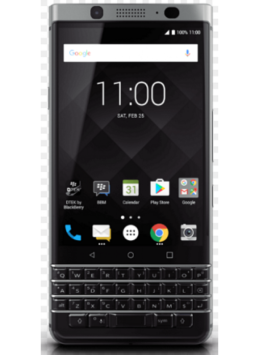blackberry keyone silver likenew