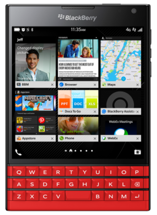 blackberry passport red likenew