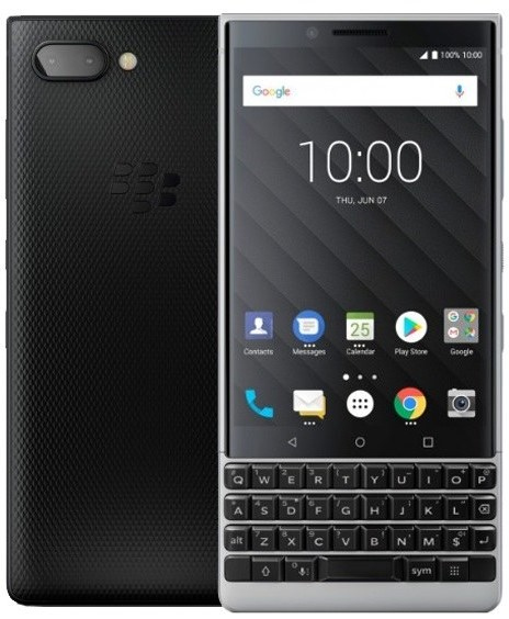 blackberry keytwo silver new fullbox