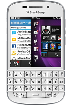 blackberry q10 white likenew