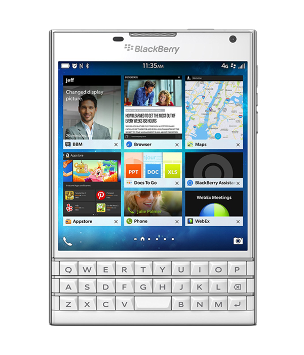 blackberry passport white likenew