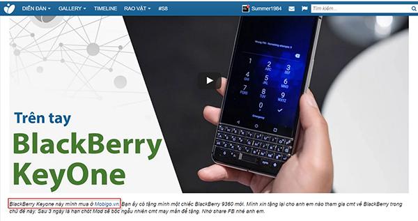 đi săn lùng cửa hàng đầu tiên phân phối chiếc điện thoại gây sốt blackberry keyone
