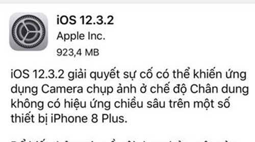 có gì mới ở phiên bản ios 12.3.2 vừa được apple cập nhật dành riêng cho iphone 8 plus?