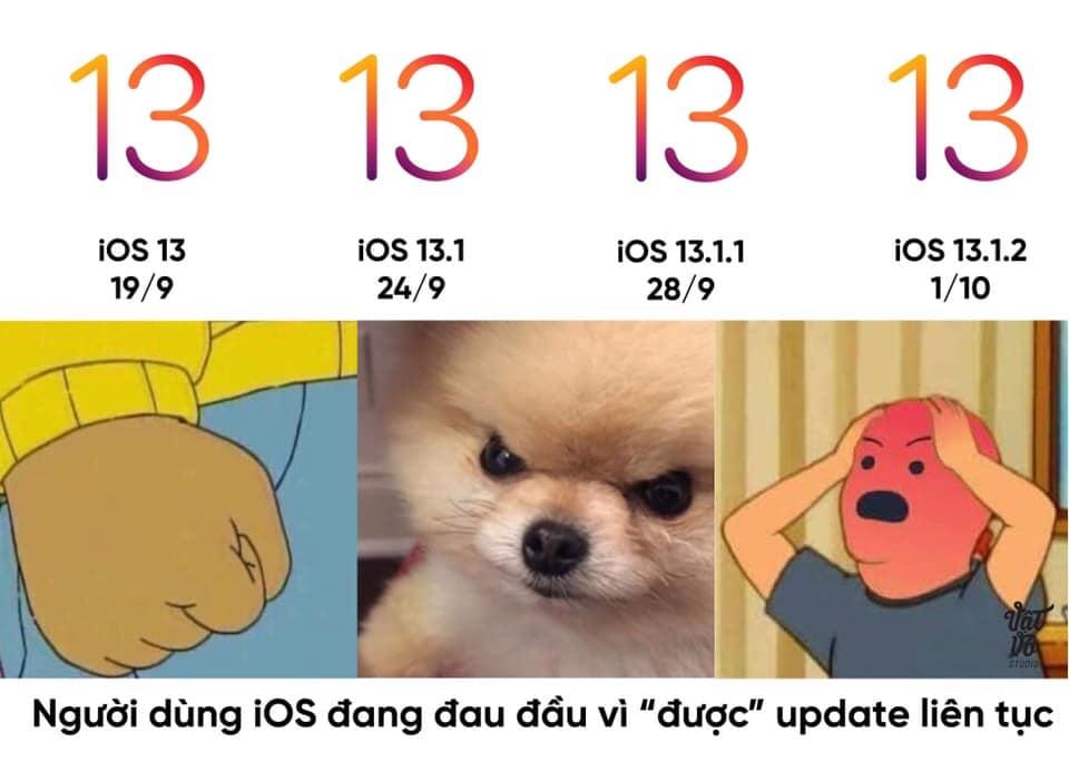 ios 13 có đến tận 4 bản cập nhật trong thời gian ngắn